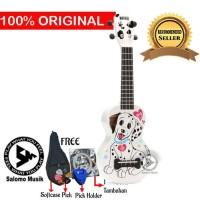 Ukulele Soprano Mahalo Dalmantian Dog White MA1DA-WT + Softcase