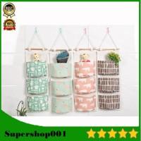 Pouch gantung 3 SEKAT Storage bag gantung Tempat Penyimpanan 03280