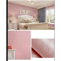 Polos pink tekstur rose 45 cm x 10 mtr ~ Wallpaper sticker dinding
