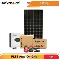 Adyasolar Panel Surya / Solar Panel / Inverter On Grid 5 kWp 1P