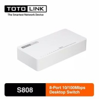 TOTOLINK S808 8-Port 10/100Mbps Desktop Switch Hub - Internet