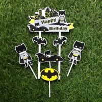 topper hiasan kue ulang tahun happy birthday karakter batman