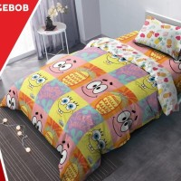 KINTAKUN SPONGEBOB BED COVER KING 180 X 200 CM BEDCOVER DUVET QUILT
