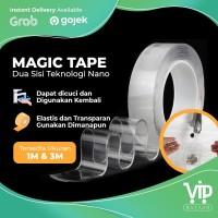 Magic Tape Double Tape Nano Tape Grip Tape Isolasi 2 Sisi Kuat Dicuci