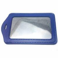 frame idcard kulit potrait / holder id card kulit / case kulit kartu