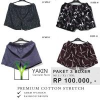 Celana Pendek Boxer katun| Cotton|Super adem | Model Fashion| PAKET 2