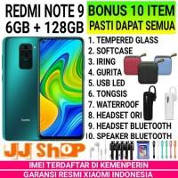 XIAOMI REDMI NOTE 9 6/128 RAM 6GB ROM 128GB GARANSI RESMI - GREEN BONUS 4