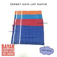 Serbet Kain Jumbo 55x50cm Lap Piring Ukuran Besar / Lap Dapur Murah Te