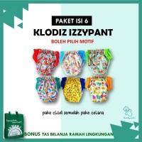 ORIGINAL Paket Clodi Klodiz Izzypants 6 Pcs – Popok Kain Celana