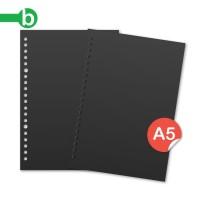 Loose leaf Hitam A5 - Kertas File Black paper
