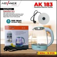 Teko listrik advance AK183/Pemanas air advance/kettle listrik advance