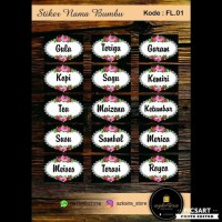 New Produk Stiker Label Nama Bumbu Dapur (Fl.01 - Fl.05) Terlaris