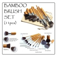 TERLARIS!!! JBS Bamboo Makeup Brush Set 11PCS Natural bambu Kuas