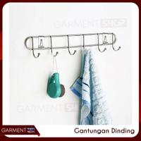 Gantungan Baju Dinding Pintu Kamar WC Stainless Jemuran Laundry