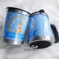 Mug Kantor Gelas Teh / Kopi Panas Stainless Souvenir Promosi MS 02