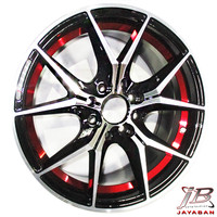 Velg racing ring 15 inch Spider Red H8 mobil Mobilio, Calya, Sigra