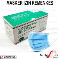 isi 50pc - Juan Technology - Masker Medis 3 ply - izin KEMENKES