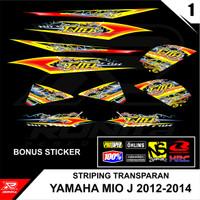Striping Motor Transparan Yamaha Mio J 2012/2013/2014 Seri 1 - DESAIN-01