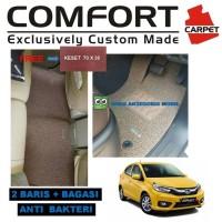 Karpet Mobil Comfort Deluxe Khusus All New Brio 2 baris + Bagasi