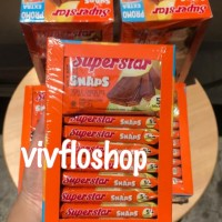 Wafer Superstar Snaps Triple Chocolate (Kemasan Box isi 12)