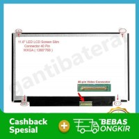 LCD LED Laptop 11.6 Inch Slim Connector 40 Pin bracket atas bawah