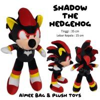 [satuan] Boneka SHADOW THE HEDGEHOG (sonic hitam)
