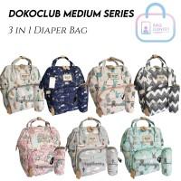 Tas Bayi Dokoclub Original Import Medium 3 in 1 Diaper Bag Ransel Kado