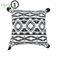 Sarung bantal sofa monochrome 45x45 cm - hitam/putih Arthome