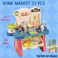 Mainan Anak Edukatif Supermarket Aksesoris 33 PCS-Mainan Anak - MAROON