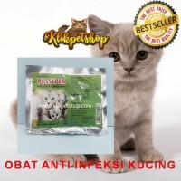 pussypen obat anti infeksi demam flu pilek kucing