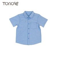 Baju Anak Laki-Laki Torio Basic French Blue Woven Shirt