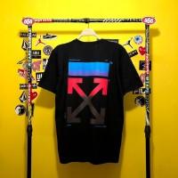 RSK Baju Kaos T-Shirt TS OFF WHITE - Hitam