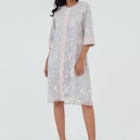 Laiqa Lace & Crochet Midi Dress - Pink