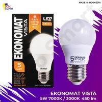 Lampu LED Ekonomat VISTA 450lm 5W 3000K Kuning 7000K Putih Watt Bohlam