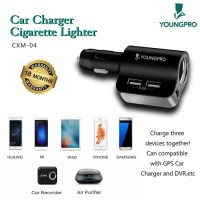 YOUNGPRO 3 USB CAR CHARGER 3.4A DC5V CIGARETTE LIGHTER -