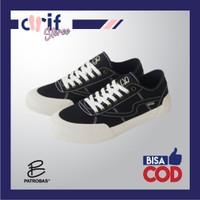 Sepatu Sneakers Pria Wanita Patrobas Equip Low Black White BW Original