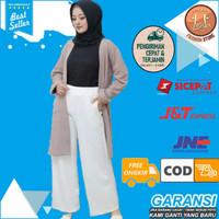 Celana Kulot Panjang Wanita Bahan Scuba Premium Celana Formal Santai