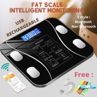 SONGYING - Timbangan Badan Digital Body Scale Body Fat Monitor Analysi - SONGYING HITAM