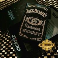 Zippo Korek Api Custom Logo Jack Daniels ukir Grafir