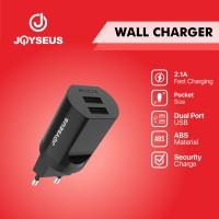 Charger Travel adaptor Colokan USB 2 Ports JOYSEUS 2.1A hitam - CL0019
