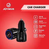 JOYSEUS QC3.0 Car Charger 3.1A Dual USB Charging Black - CM0001