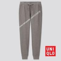 CELANA PANJANG TRAINING PRIA UNIQLO SWEAT PANTS 419507 ABU DARK GRAY