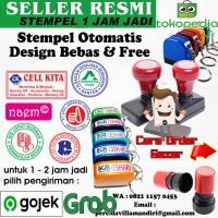 Stempel Flash / stempel otomatis MURAH, BAGUS & CEPAT - tinta refil, 1 warna
