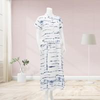 Lunaci Blue Ripple Maxi Dress