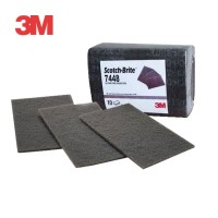 3M Amplas Stainless Scotch-Brite 7448 - 6in x 9in (10 Pad/Pack)