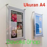 FRAME / BINGKAI / DISPLAY POSTER AKRILIK BERKUALITAS UKURAN A4