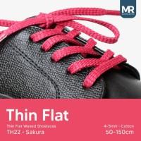 Tali Lilin Gepeng (Thin Flat) 90cm 5mm Variasi Warna untuk Sepatu
