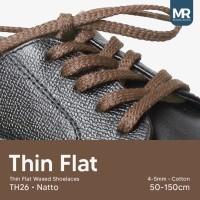 Tali Lilin Gepeng (Thin Flat) 70cm 5mm Variasi Warna untuk Sepatu