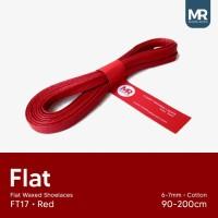 Tali Lilin Gepeng (Flat) 180cm Variasi Warna untuk Sepatu Sneakers