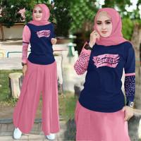 Set kulot Mola/Set Celana Kulot Muslim Fashion/Setelan Kulot Muslim